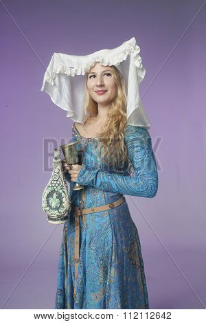 Medieval Girl With A Vase