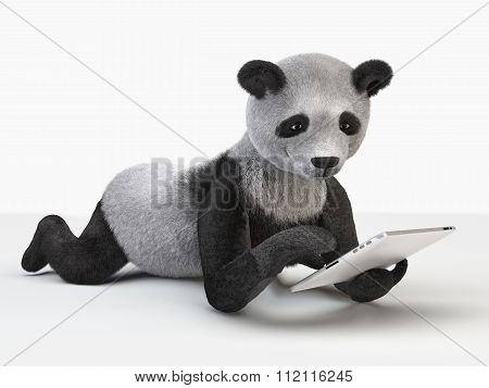 Panda Character Personage Individual Furry Cartoon Cute Cheerful Guy