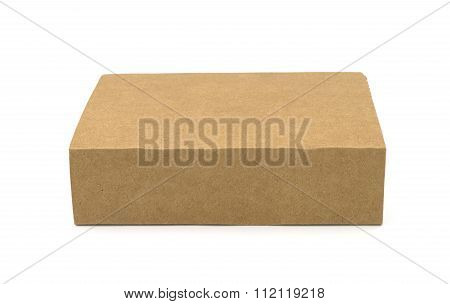 Brown Box On White Background.
