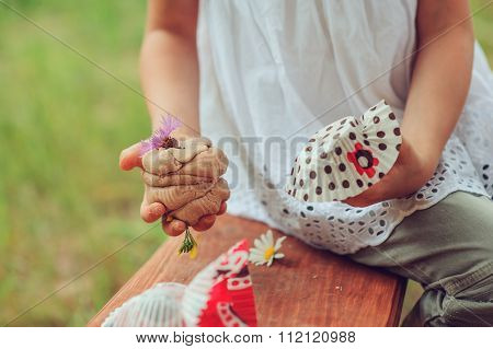 child playing with salt dough and making cakes outdoor summer activities