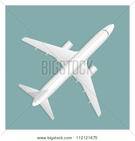 Airplane Isolated On Background