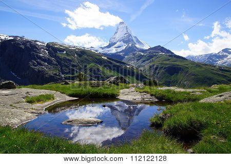 Panorama of Matterhorn, Switzerland.