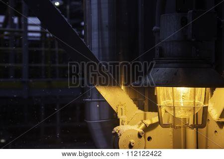 street industrial night lamp closeup