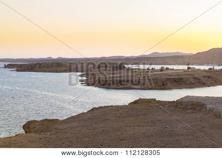 Sunset At Mount Sinai, Views Of The Bay And Islands From Height In Sharm El Sheikh