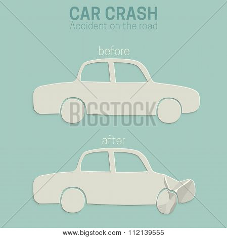 Car crash accident.