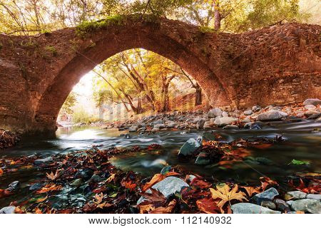 Medieval Venetian bridge in Cyprus