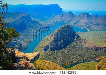 Beautiful sunny day at Blyde river Canyon, Mpumalanga, South Africa