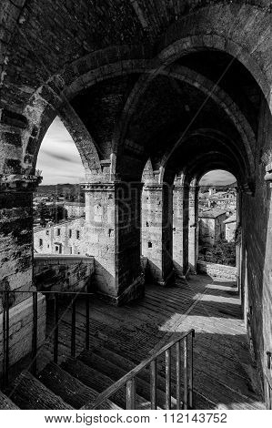 Old Passage In Gubbio, Italy