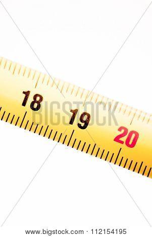 Measuring Tape Ruler Numbers 18 19 20