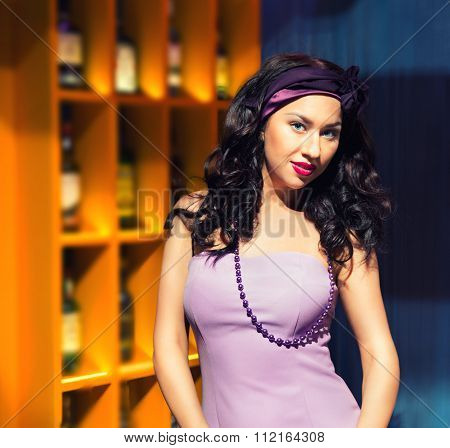 Portrait Of A Woman In The Bar
