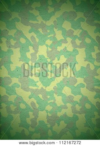 Abstract stylized paper background in khaki colors. Background for posters for Defender of Fatherland or Victory day. Green khaki paper background. Raster illustration poster