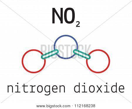 NO2 nitrogen dioxide molecule