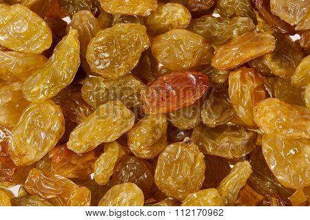 Background Of Sultana Raisins, Close Up