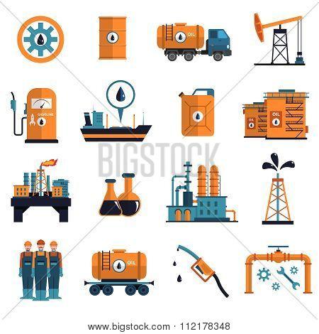 Oil Icons Set