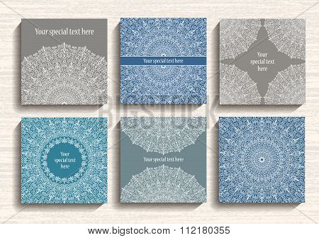 Round Lace Ornament Cards Set