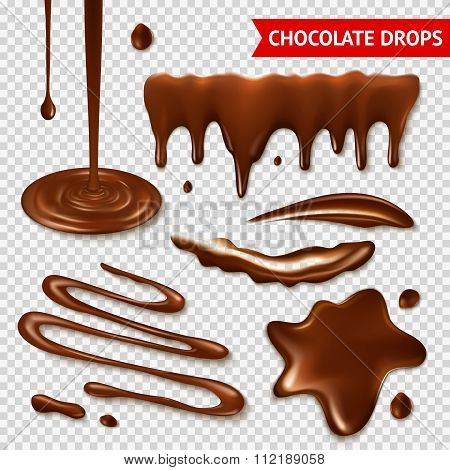 Chocolate transparent set