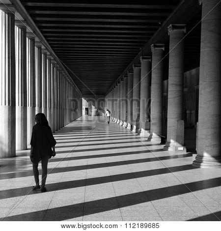 People Marble Columns