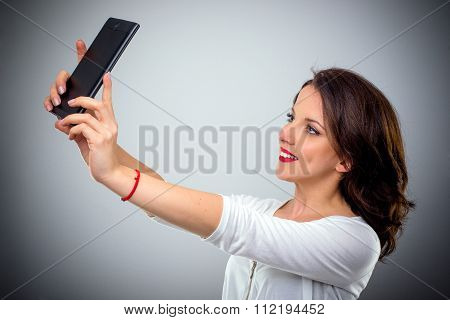 Attractive Woman Taking A Selfie