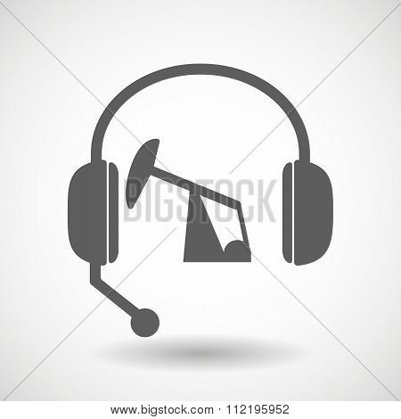 Assistance Headset Icon With A Horsehead Pump