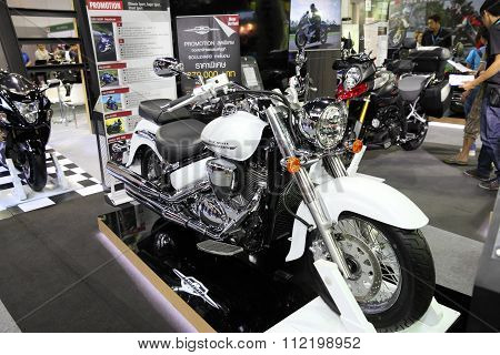 Bangkok - December 11 : Suzuki Classic Rumble Motorcycle On Display At The Motor Expo 2015 On Decemb