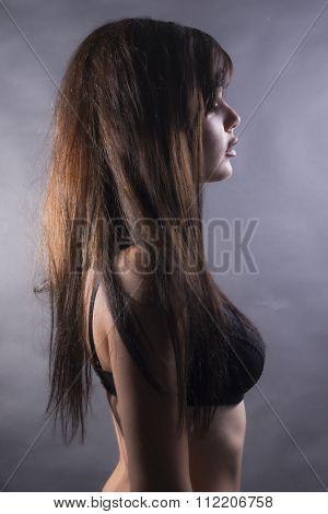 Woman Portrait In Lingerie