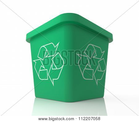 Recycle Bin With Recycle Sign