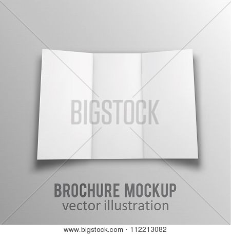 white mockup broshure 3d with shadow