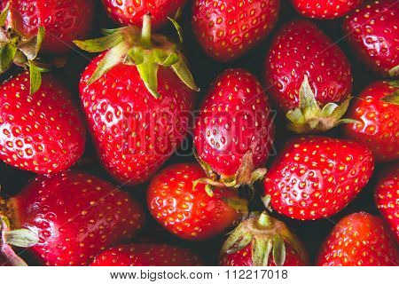 Fresh Strawberry toned Background
