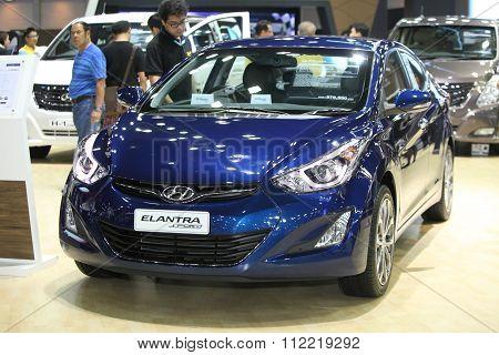 Bangkok - December 11:hyundai Elantra Sporty Car On Display At The Motor Expo 2015 On December 11, 2