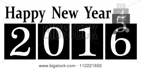 2016 happy new year icon