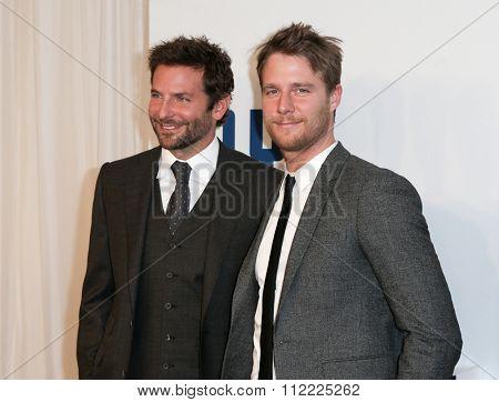 NEW YORK-DEC 13: Actor Bradley Cooper (L) and Jake McDorman attend the