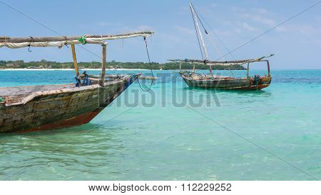 Two Dhow Boats