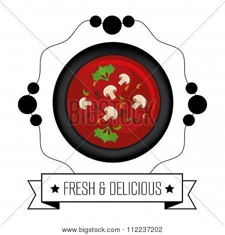 Gastronomy and restaurant menu graphic design, vector illustration eps10 poster