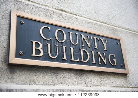 Name Plate on County Building