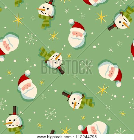 Vintage style Christmas wrapping paper pattern - Seamless tiling - EPS10