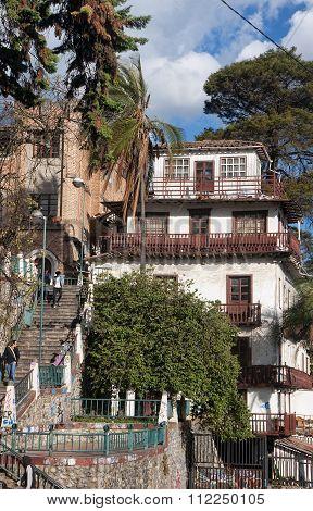 Cuenca, Ecuador - November 28, 2015: The Historic Buildings Of T
