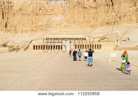 Tourists In Hatshepsut Temple