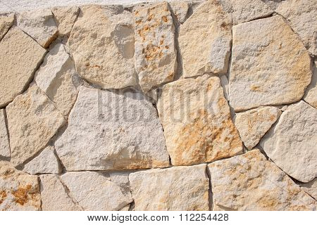 Fieldstone wall closeup