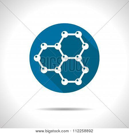 Graphene icon. Physical icon