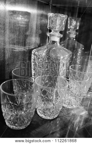 carafe and glasses