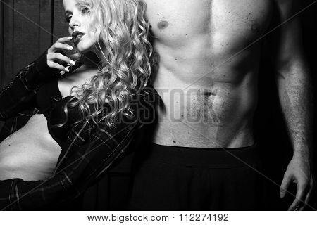 Blonde Woman And Man