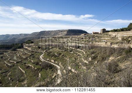 Landscape Around Ares Del Maestre