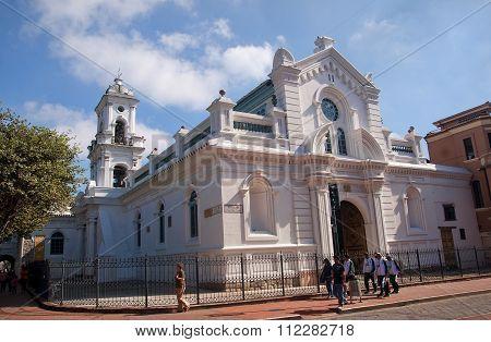 Cuenca, Ecuador - November 28, 2015:  Old Cathedral On 28 Novemb