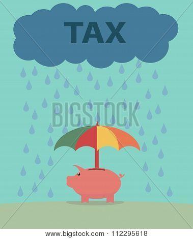Piggybank and Taxes.