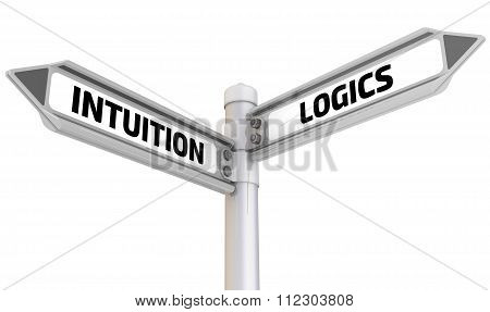 Intuition and logics. Road sign