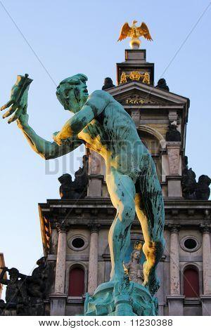 Statue Of Brabo In Antwerp