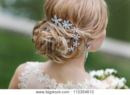 Bride hairstyle with decoration