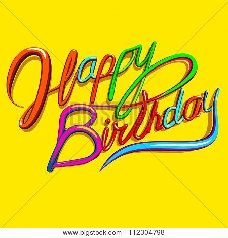 Happy Birthday Text Greeting Card