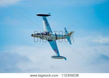 T-33 Jet In Flight