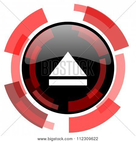 eject red modern web icon